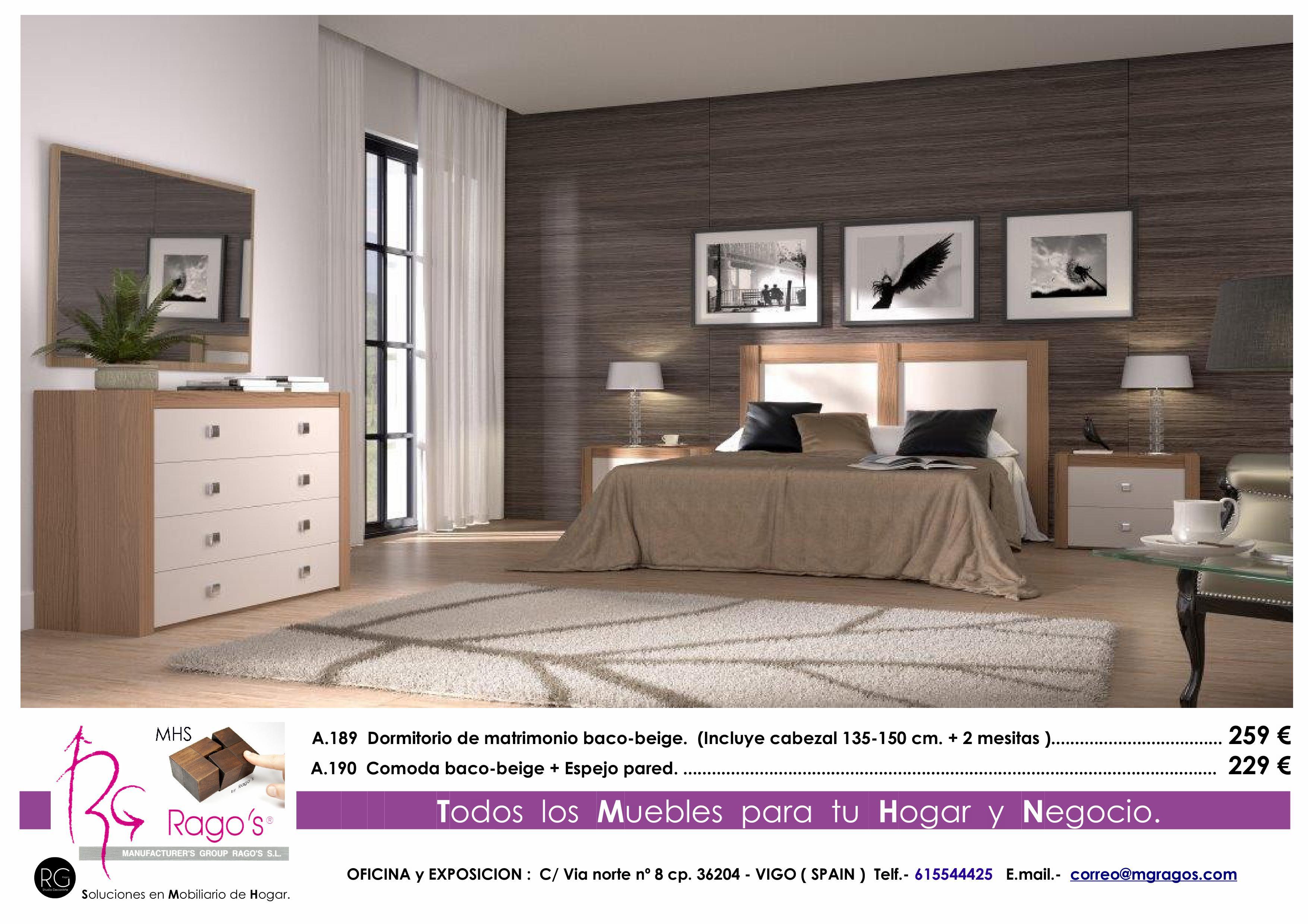 A.189-A.190 Dormitorio (Cabezal+Mesitas - Comoda+Espejo) Pag. nº 2