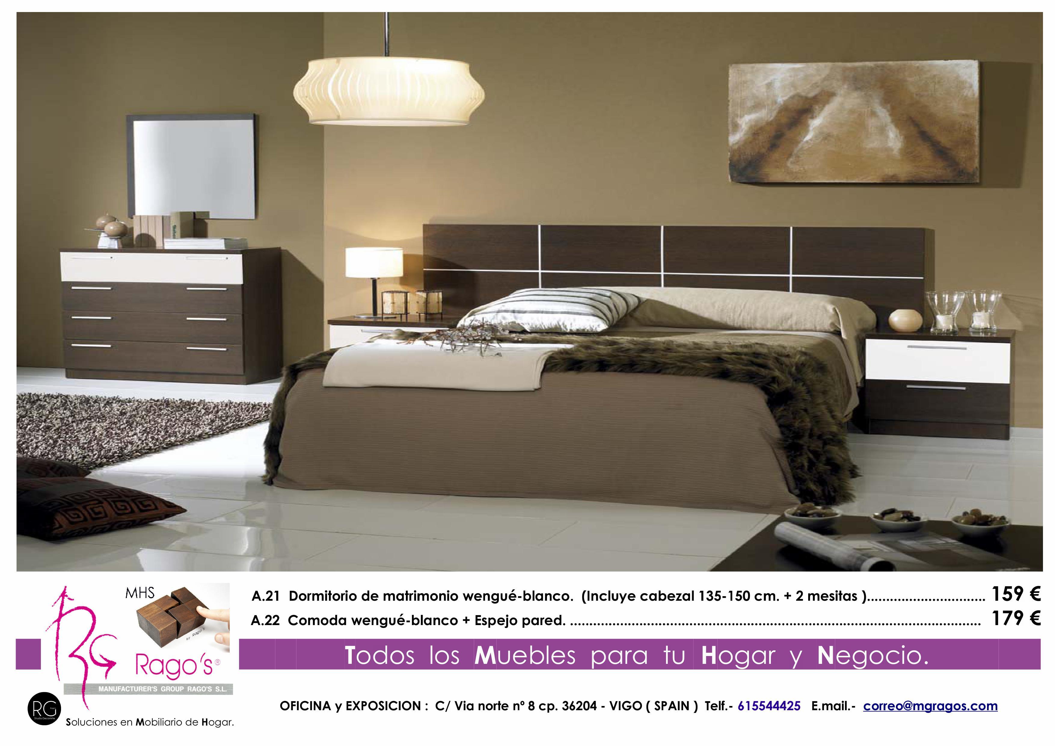 A.21-A.22 Dormitorio (Cabezal+Mesitas - Comoda+Espejo) Pag. nº 5