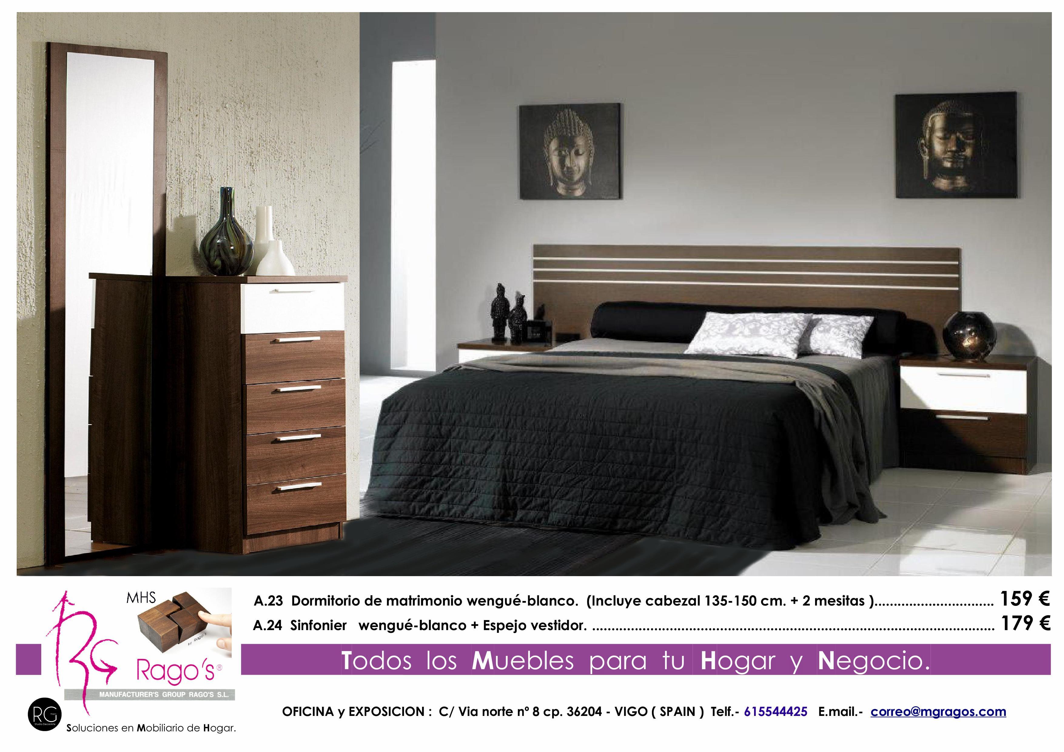 A.23-A.24 Dormitorio (Cabezal+Mesitas-Sinfonier+Espejo) Pag. nº 5