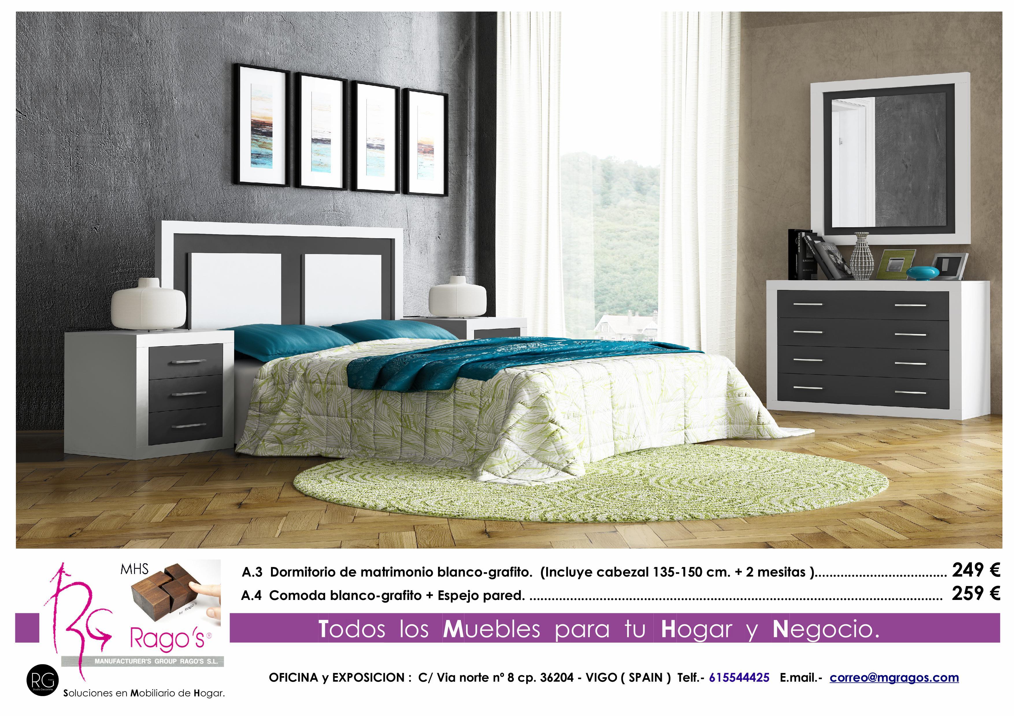 A.3-A.4 Dormitorio (Cabezal+Mesitas-Comoda+Espejo) Pag. nº 3