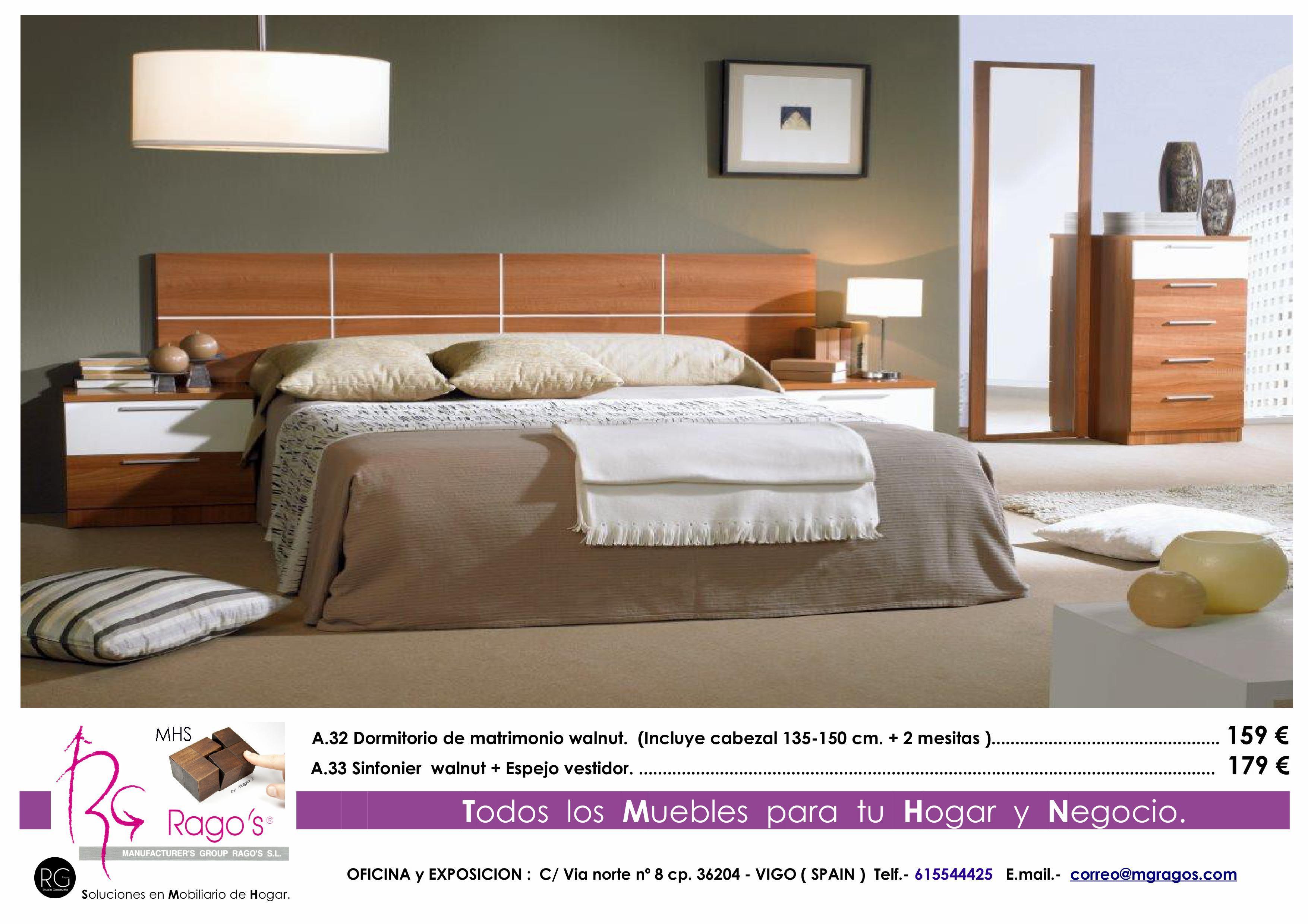 A.32-A.33 Dormitorio (Cabezal+Mesitas-Sinfonier+Espejo) Pag. nº 4