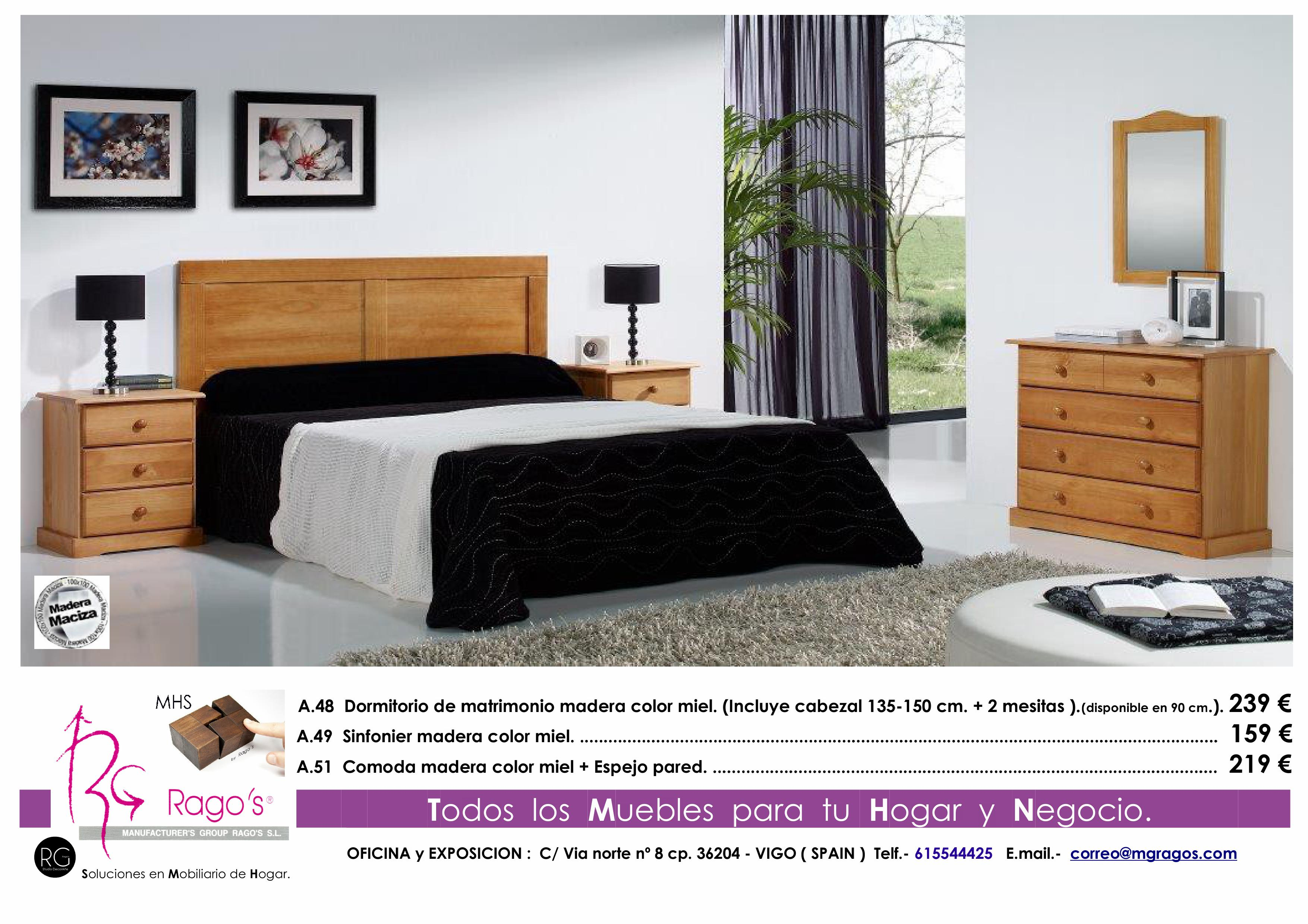 A.48-A.51 Dormitorio (Cabezal+Mesitas-Comoda+Espejo) Pag. nº 6