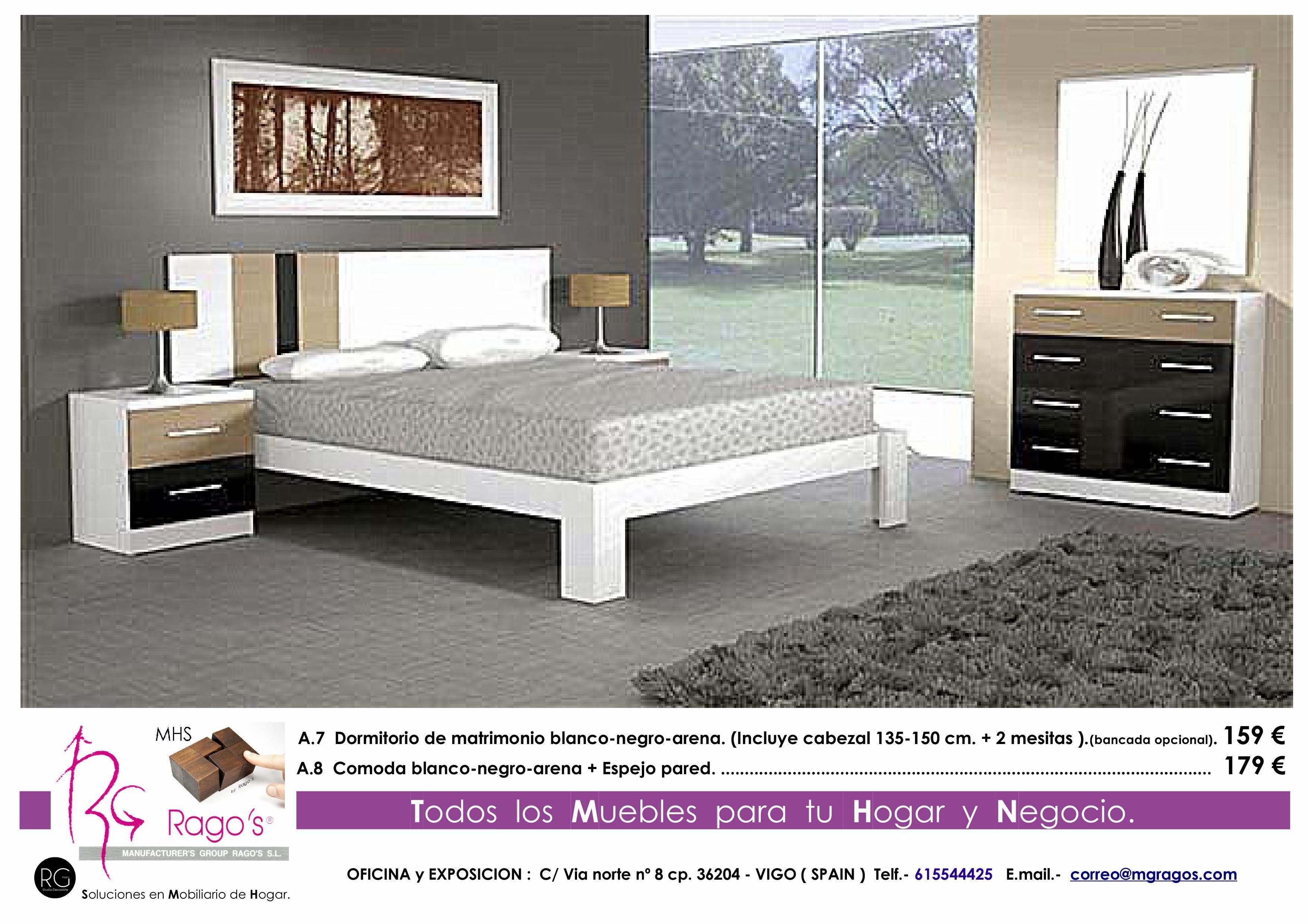 A.7-A.8 Dormitorio (Cabezal+Mesitas - Comoda+Espejo) Pag. nº 3