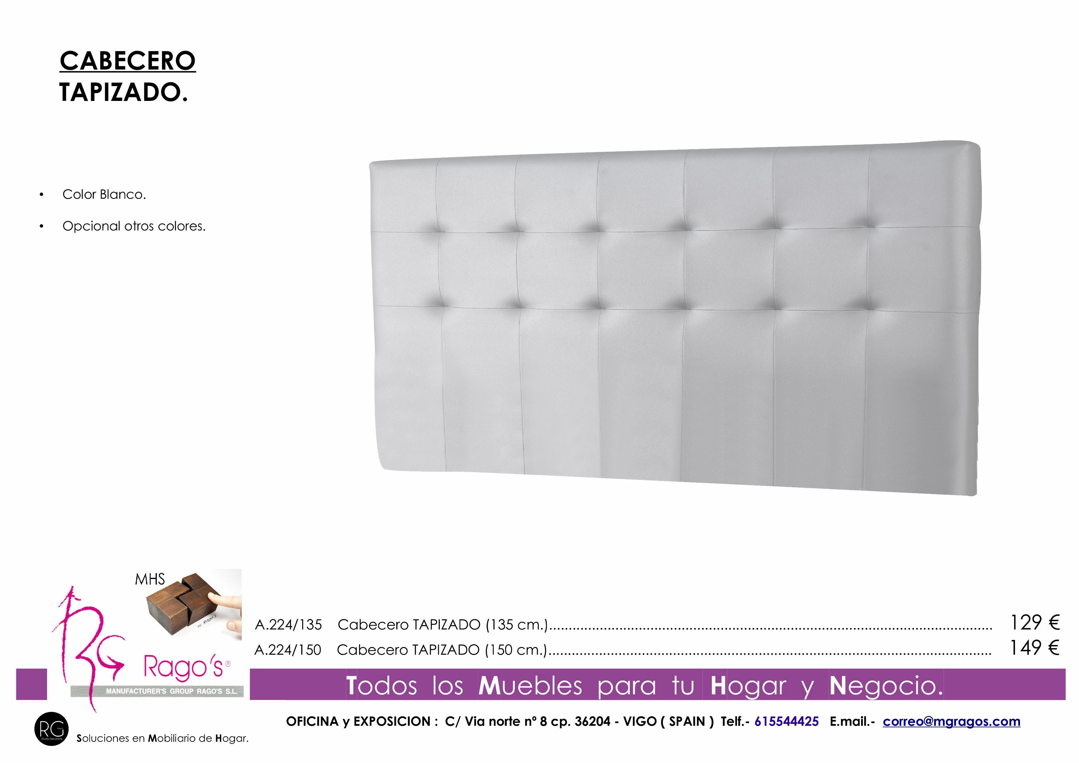 A.224 BLANCA Cabecero tapizado Pag nº 10