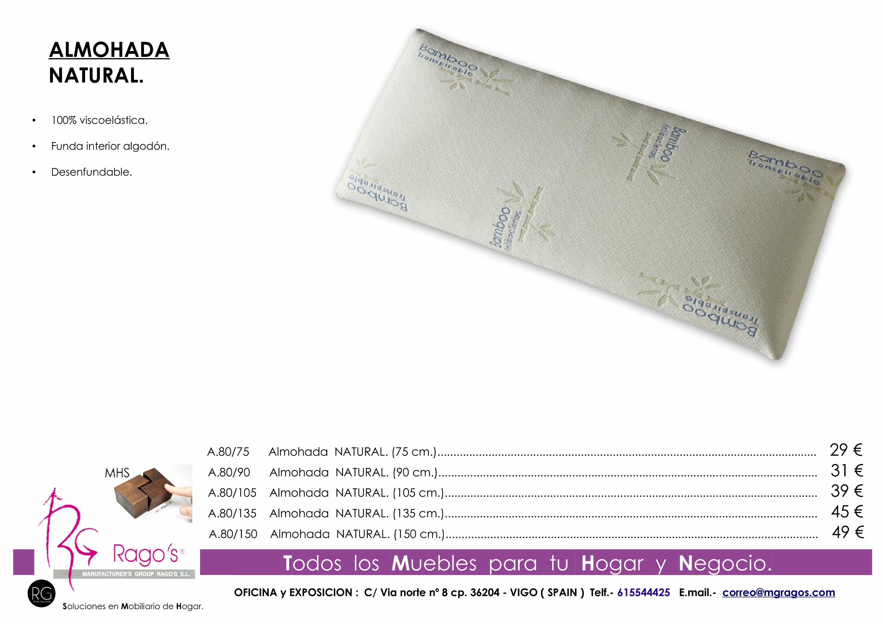 A.80 Almohada NATURAL Pag. nº 9